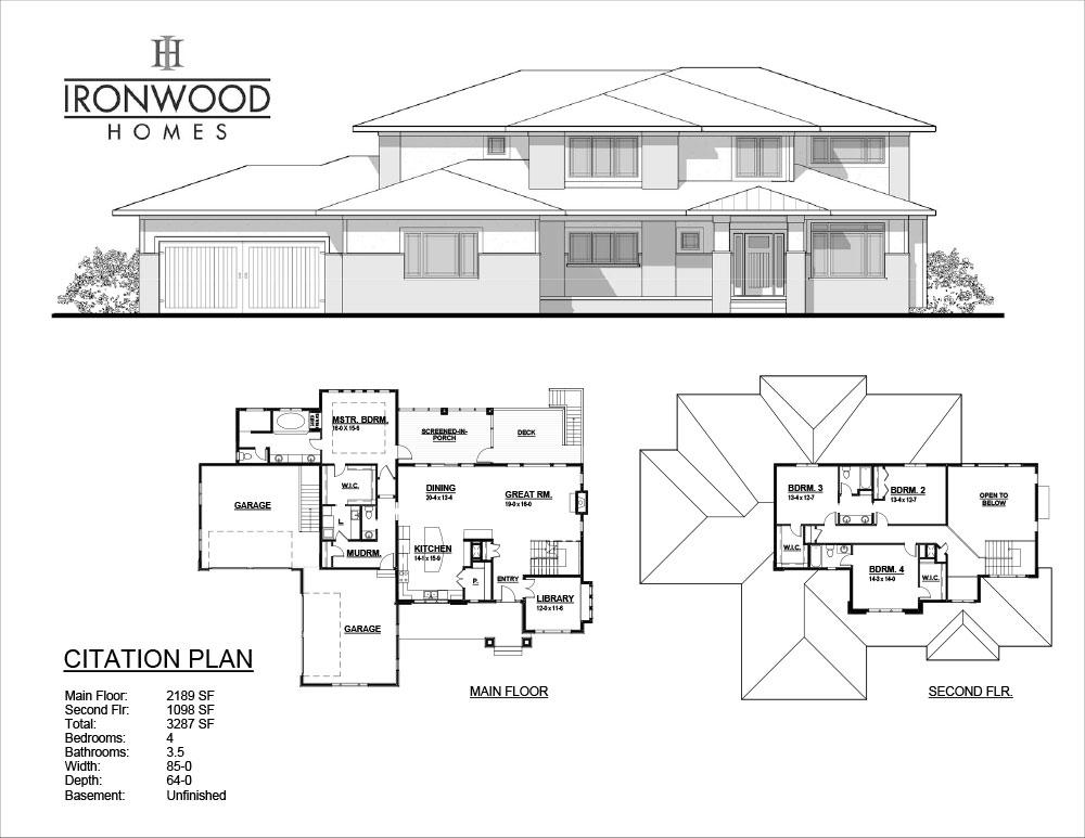 Citation floor plan for Iowa home builders floor plans