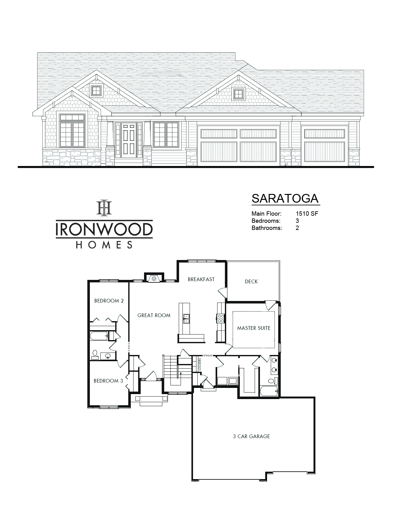 Saratoga II floor plan sheet